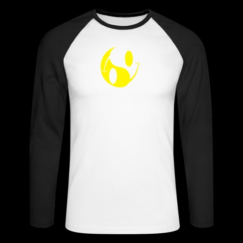 SMILEY YIN YANG - Men's Long Sleeve Baseball T-Shirt