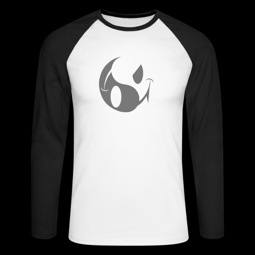 SMILEY ACID YIN YANG DARK SIDE - Men's Long Sleeve Baseball T-Shirt