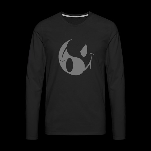 SMILEY ACID YIN YANG DARK SIDE - Men's Premium Longsleeve Shirt