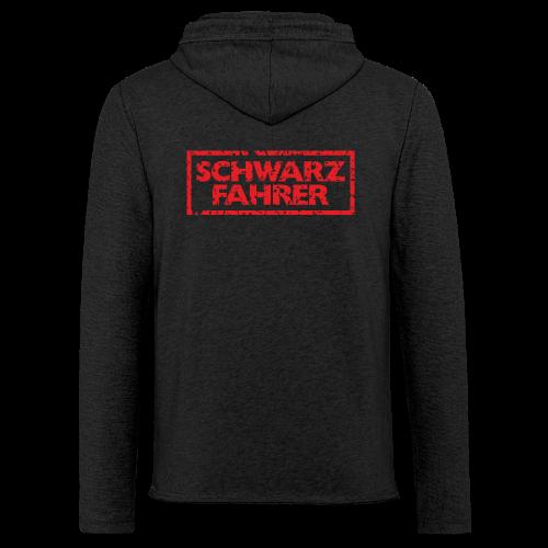 Schwarzfahrer T-Shirt (Schwarz Rot) Rücken - Leichtes Kapuzensweatshirt Unisex