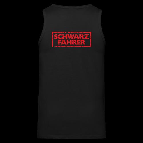 Schwarzfahrer T-Shirt (Schwarz Rot) Rücken - Männer Premium Tank Top
