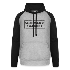 Schwarzfahrer T-Shirt (Grau Schwarz) - Unisex Baseball Hoodie