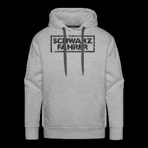 Schwarzfahrer T-Shirt (Grau Schwarz) - Männer Premium Hoodie