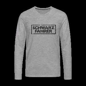 Schwarzfahrer T-Shirt (Grau Schwarz) - Männer Premium Langarmshirt