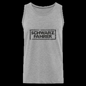 Schwarzfahrer T-Shirt (Grau Schwarz) - Männer Premium Tank Top