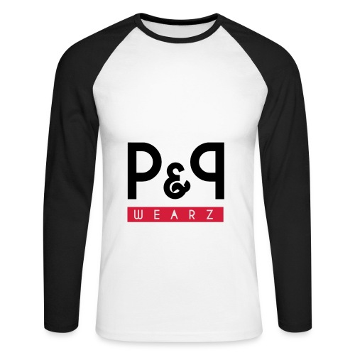 P&P Wearz Sweat Bi-colore For Him - T-shirt baseball manches longues Homme