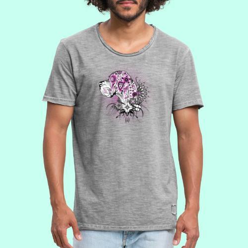 Doggenportrait Mexikanisch - Männer Vintage T-Shirt