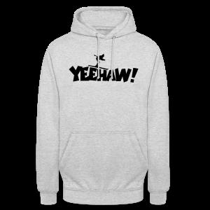 Yeehaw Skiing T-Shirt (Weiß/Schwarz) Herren - Unisex Hoodie
