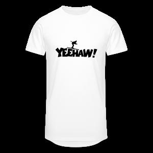 Yeehaw Skiing T-Shirt (Weiß/Schwarz) Herren - Männer Urban Longshirt