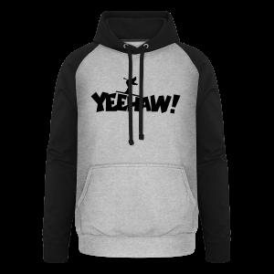 Yeehaw Skiing T-Shirt (Weiß/Schwarz) Herren - Unisex Baseball Hoodie