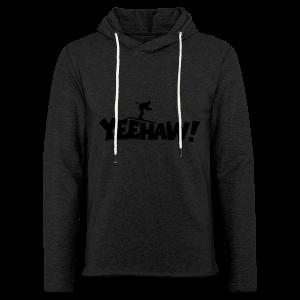 Yeehaw Skiing T-Shirt (Weiß/Schwarz) Herren - Leichtes Kapuzensweatshirt Unisex