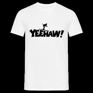 Yeehaw Skiing T-Shirt (Weiß/Schwarz) Herren - Männer T-Shirt