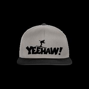 Yeehaw Skiing T-Shirt (Weiß/Schwarz) Herren - Snapback Cap
