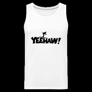 Yeehaw Skiing T-Shirt (Weiß/Schwarz) Herren - Männer Premium Tank Top