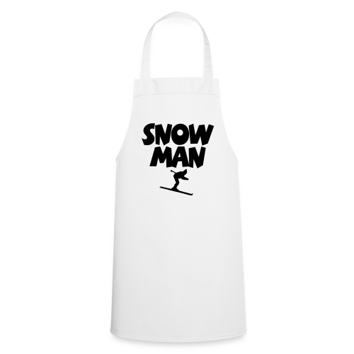 Snowman Après-Ski T-Shirt (Grau/Schwarz/Rücken) - Kochschürze