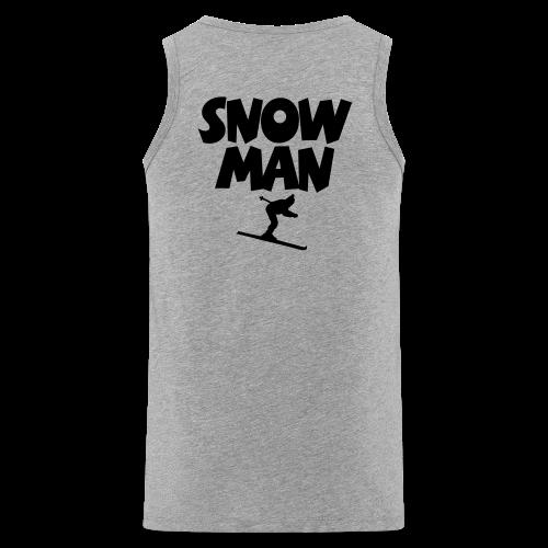 Snowman Après-Ski T-Shirt (Grau/Schwarz/Rücken) - Männer Premium Tank Top