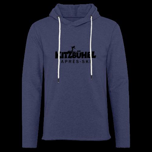Kitzbühel Après-Ski T-Shirt (Damen Blau) - Leichtes Kapuzensweatshirt Unisex