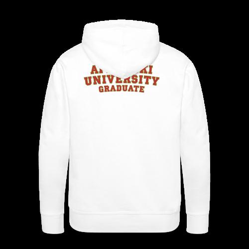 Après-Ski University Graduate T-Shirt (Damen Weiß) Rückenaufdruck - Männer Premium Hoodie