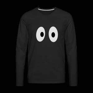 Lustiges Tank Top mit Augen (Herren) - Männer Premium Langarmshirt