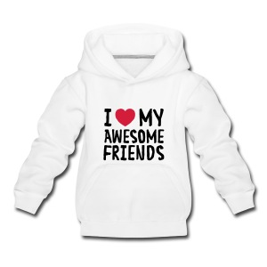 I Love (Heart) My Awesome Friends T-shirts - Premium-Luvtröja barn