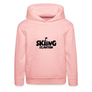 Skiing St. Anton T-Shirt (Damen Gelb/Schwarz) - Kinder Premium Hoodie