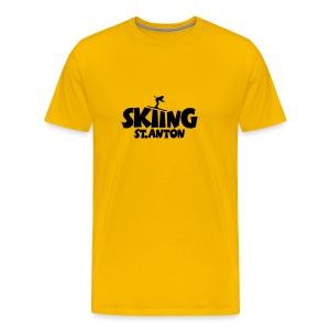 Skiing St. Anton T-Shirt (Damen Gelb/Schwarz) - Männer Premium T-Shirt