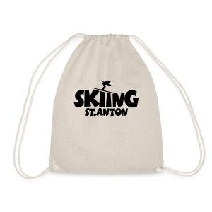 Skiing St. Anton T-Shirt (Herren Gelb/Schwarz) - Turnbeutel