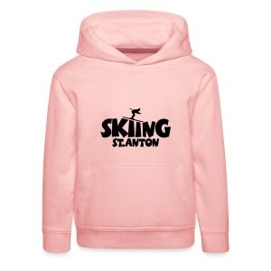 Skiing St. Anton T-Shirt (Herren Gelb/Schwarz) - Kinder Premium Hoodie