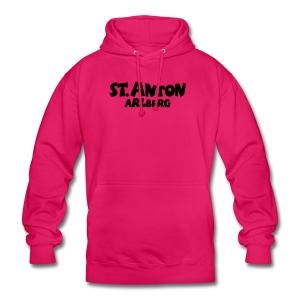 St. Anton Arlberg T-Shirt (Damen Pink/Weiß) - Unisex Hoodie