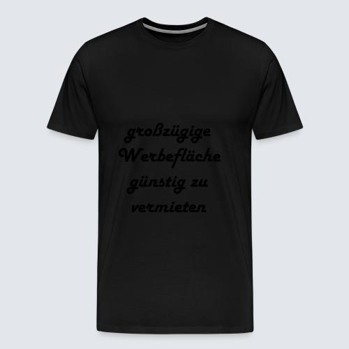 großzügige Werbefläche - Männer Premium T-Shirt