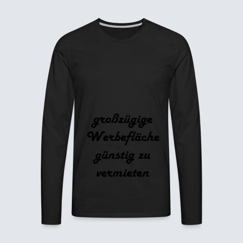 großzügige Werbefläche - Männer Premium Langarmshirt