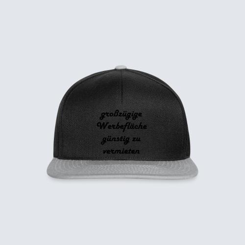 großzügige Werbefläche - Snapback Cap