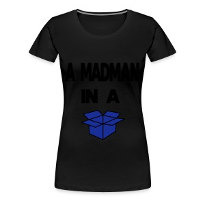 A Madman in a a blue box  Toppar - Premium-T-shirt dam