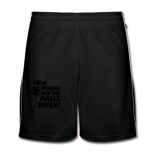 Malle Diven T-Shirt (Herren Rot/Weiß) - Männer Fußball-Shorts