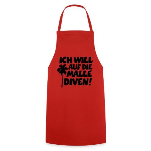 Malle Diven Solo T-Shirt mit Palme (Herren Rot/Weiß) - Kochschürze
