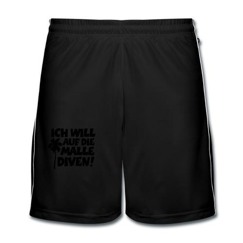 Malle Diven Solo T-Shirt mit Palme (Herren Rot/Weiß) - Männer Fußball-Shorts