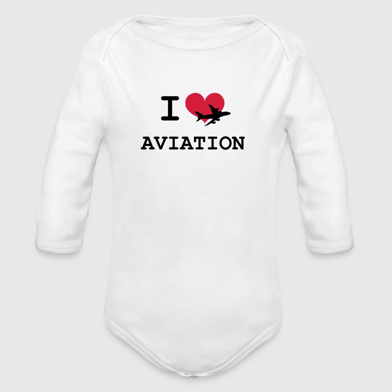 I Love Aviation [Pilot] Hoodies - Longlseeve Baby Bodysuit