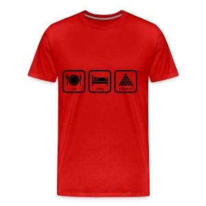 eat sleep snooker - Men's Premium T-Shirt