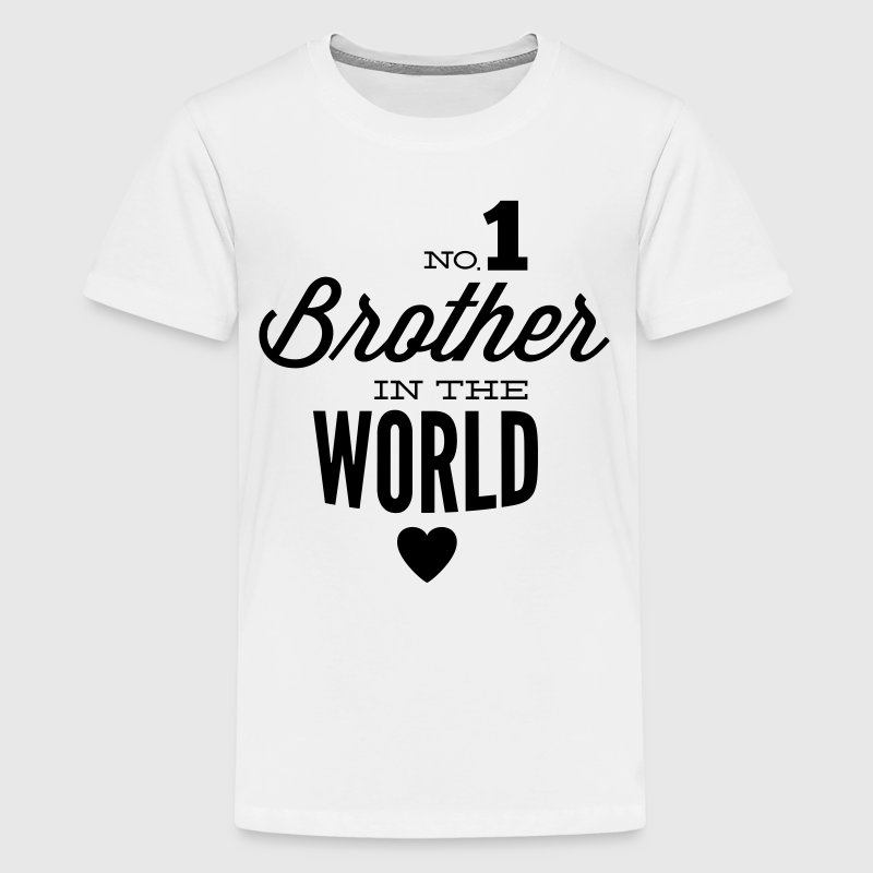 no1 brother of the world T-shirts - Teenager premium T-shirt
