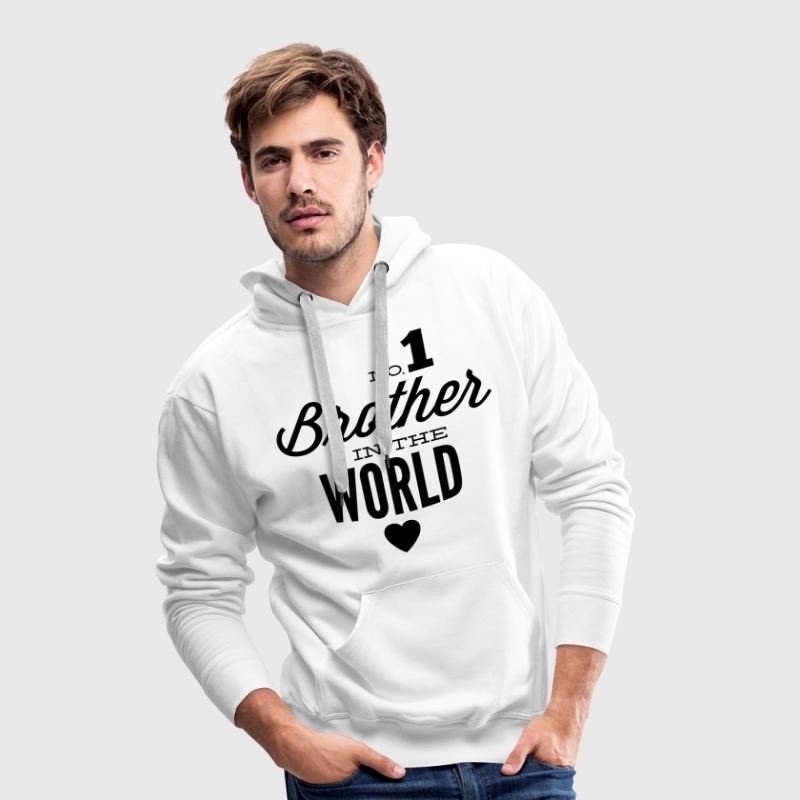 no1 brother of the world Sudaderas - Sudadera con capucha premium para hombre