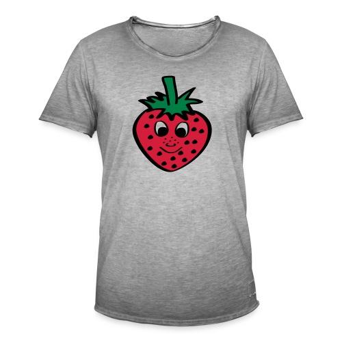 Erdbeere | Lustige Comic Motive - Männer Vintage T-Shirt