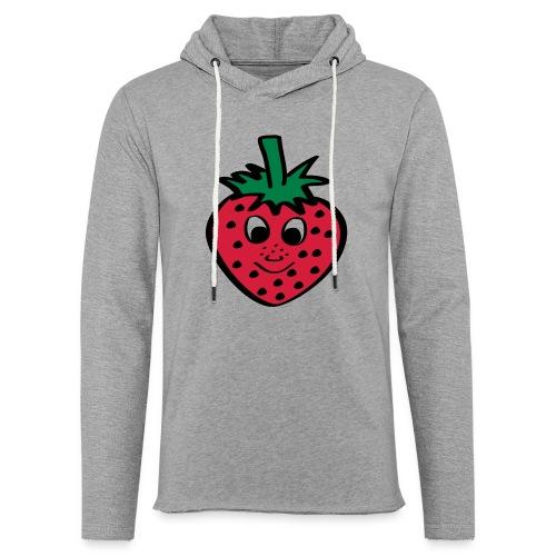 Erdbeere | Lustige Comic Motive - Leichtes Kapuzensweatshirt Unisex