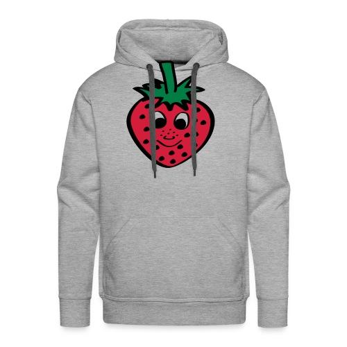 Erdbeere | Lustige Comic Motive - Männer Premium Hoodie