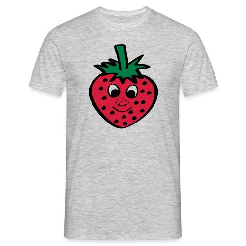 Erdbeere | Lustige Comic Motive - Männer T-Shirt