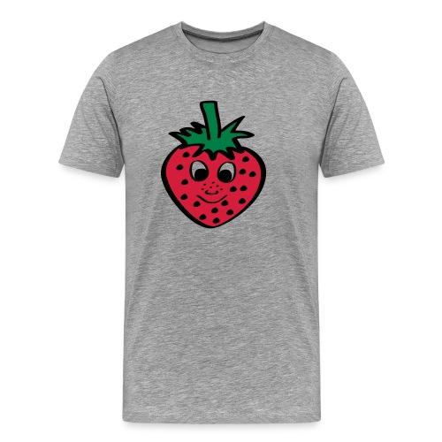 Erdbeere | Lustige Comic Motive - Männer Premium T-Shirt