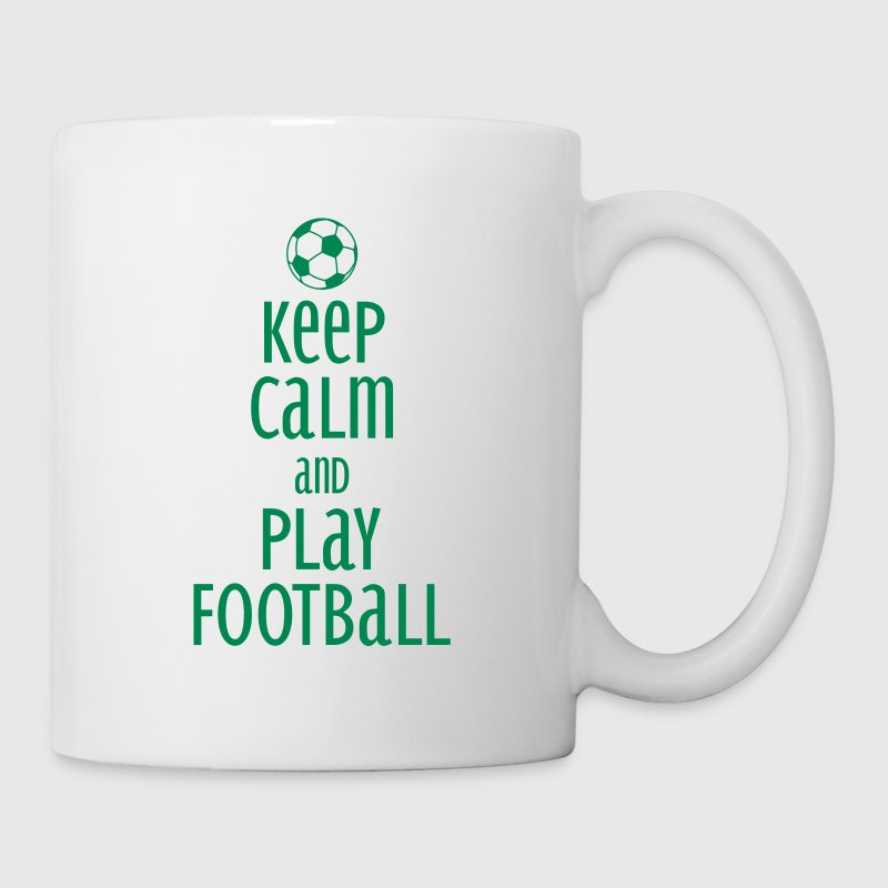 keep calm and play football Mugs & Drinkware - Mug