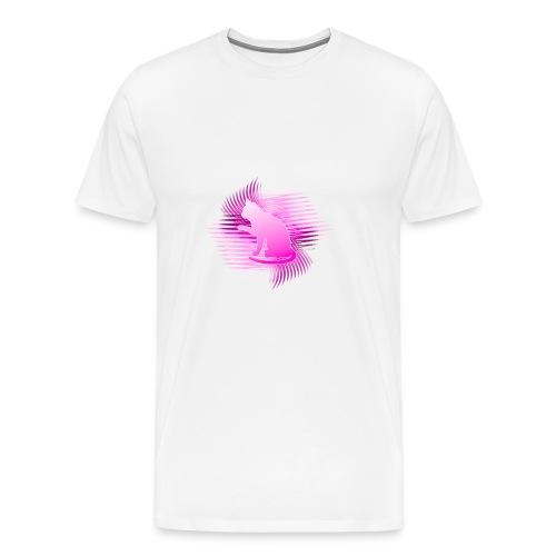 Katzen T-Shirt Bio Baumwolle, ausgefallenes Katzenmotiv - Männer Premium T-Shirt