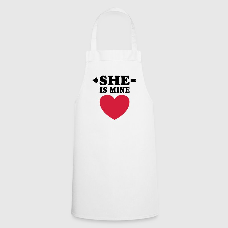 She is Mine I love you my Girlfriend Freundin Girl  Aprons - Cooking Apron