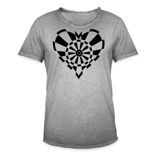 Dartscheiben Herz - Männer Vintage T-Shirt