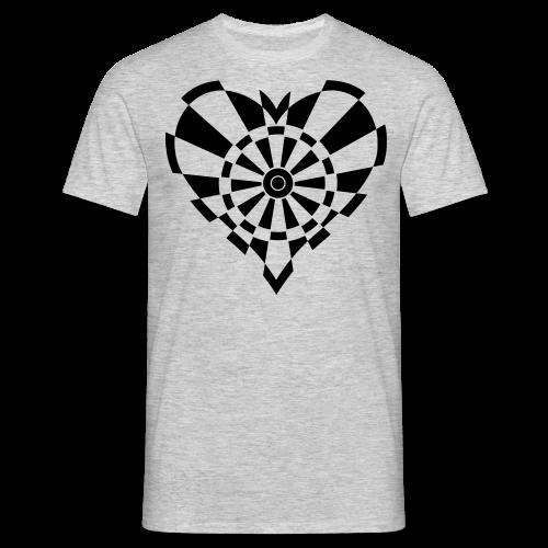 Dartscheiben Herz - Männer T-Shirt